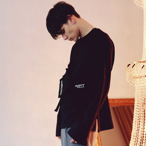 [언아웃핏]UNISEX OVERFIT CUFFS LONG SLEEVE BLACK