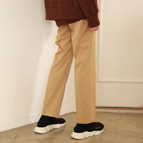 [어패럴싯]UNISEX SLIT WIDE SLACKS BEIGE