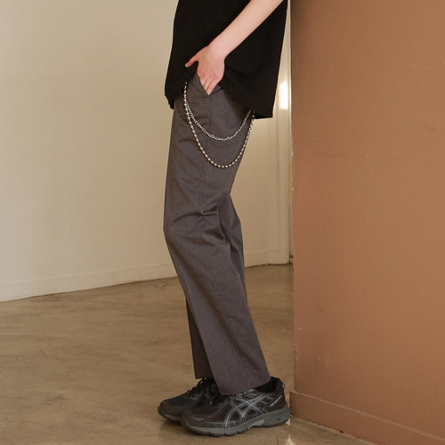 [어패럴싯]UNISEX SLIT WIDE SLACKS GREY