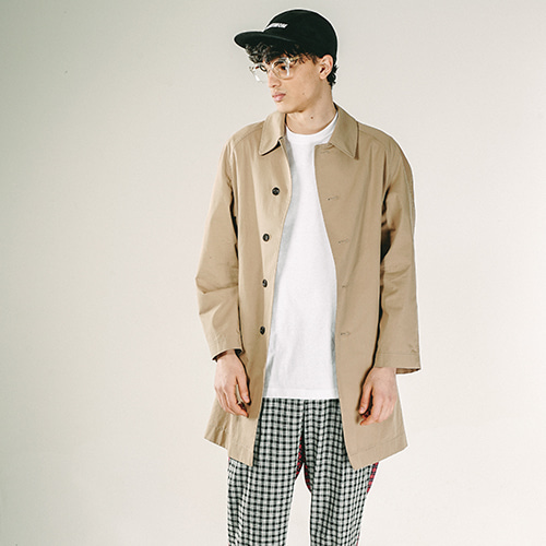 [OVERTHEONE]081 COTTON SINGLE COAT