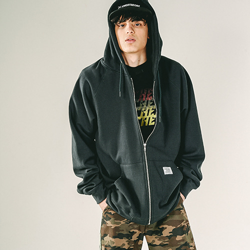 [OVERTHEONE]112 OVER FIT HEAVY ZIP HOODIE