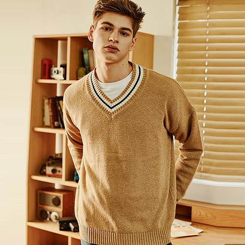 [CRUMP] Crump wool v-neck overfit knit (CT0120-1)