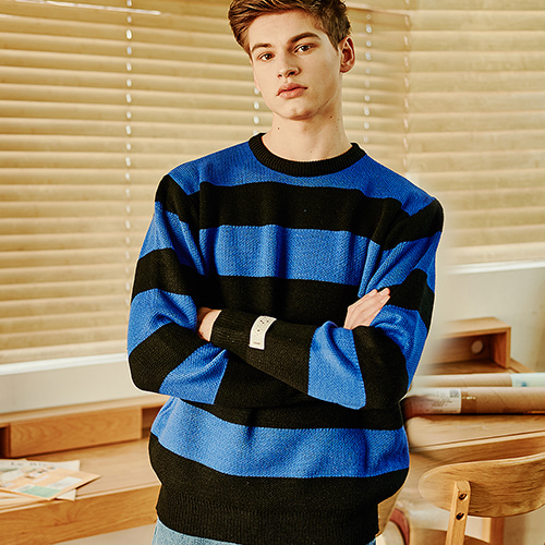 [CRUMP] Crump stripe overfit knit (CT0121)