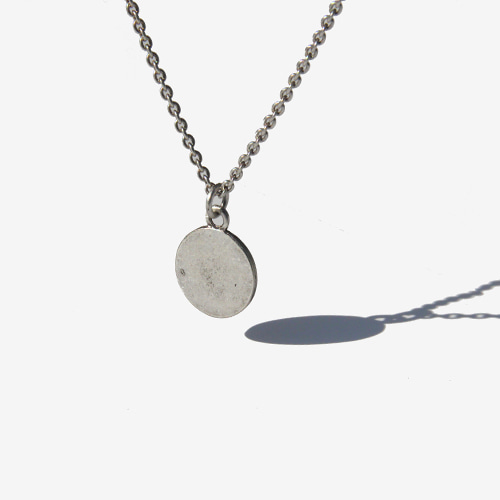 [RUSHOFF]Vintage Medal Silver Necklace/빈티지메달 실버목걸이(925은도금)