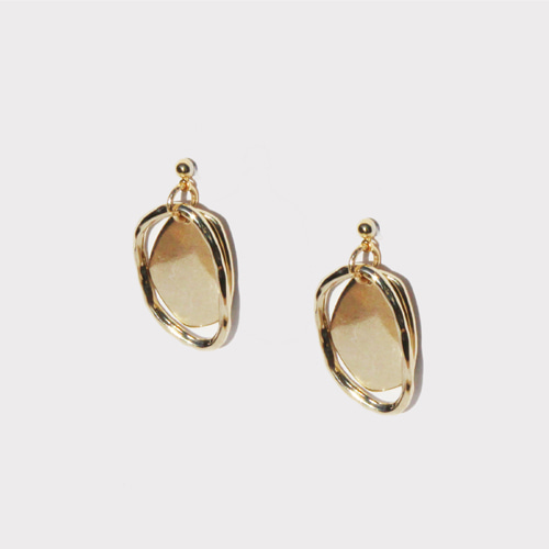 [RUSHOFF]Dual Gold Shape Earring/듀얼 골드쉐입 이어링