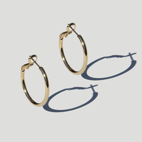 [RUSHOFF]Gold Daily Ring Earring/골드 데일리 이어링