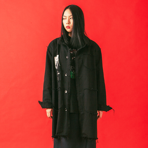 [KING]PSYCHOMMUNITY Shop Coat-Black