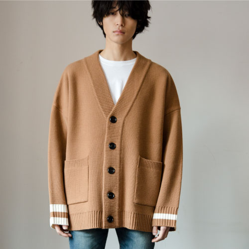 [NOT N NOT][03.20 예약발송]NOT REAL OVER FIT HEAVY CARDIGAN - CAMEL