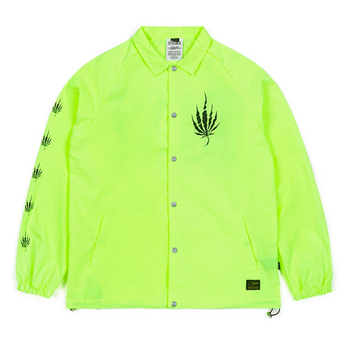 [STIGMA]DUST OVERSIZED COACH JACKET - NEON GREEN