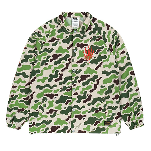 [STIGMA]DUST OVERSIZED COACH JACKET - CAMOUFLAGE