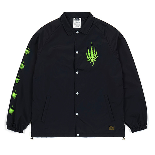 [STIGMA]DUST OVERSIZED COACH JACKET - BLACK