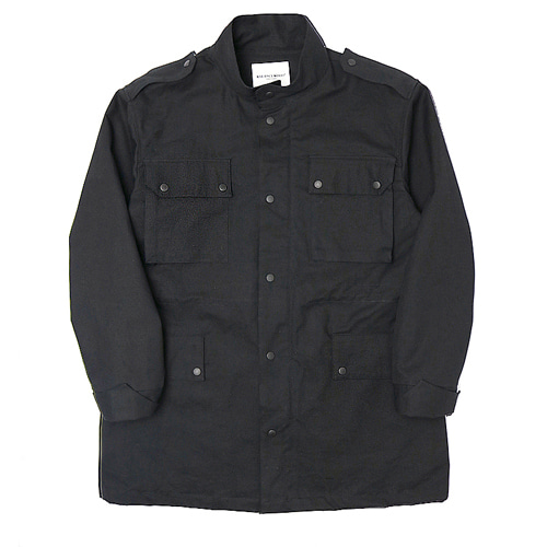 [Balancewood] Coloration Button Field Jaket (Black)