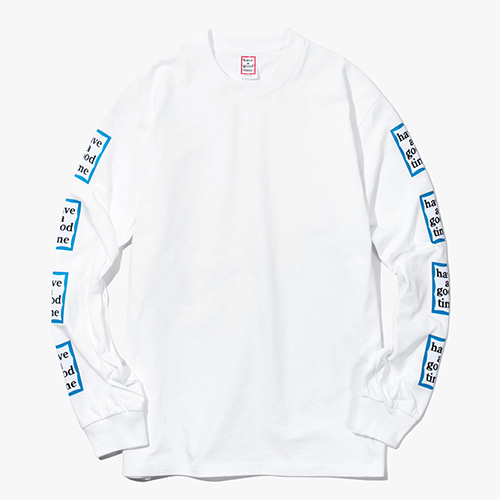 [Have a good time] Arm Blue Frame L/S Tee - White
