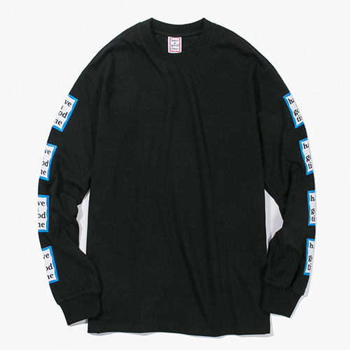 [Have a good time] Arm Blue Frame L/S Tee - Black