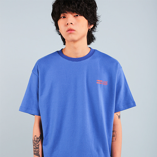 [페퍼시즈닝] BUMPS T-SHIRT / BLUE