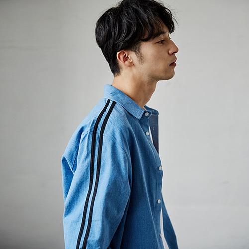 [매드마르스]2 LINE DENIM SHIRTS_BLUE