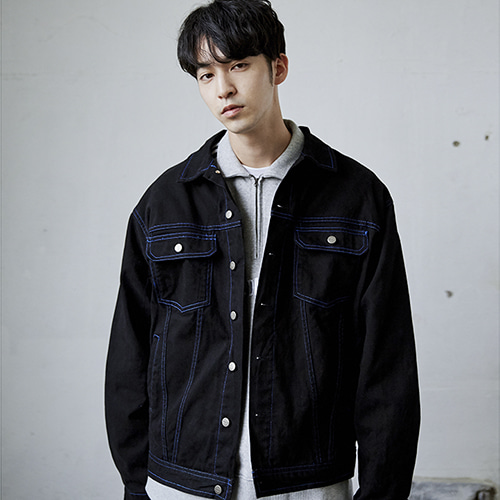 [매드마르스]STITCH POINT JACKET_BLACK