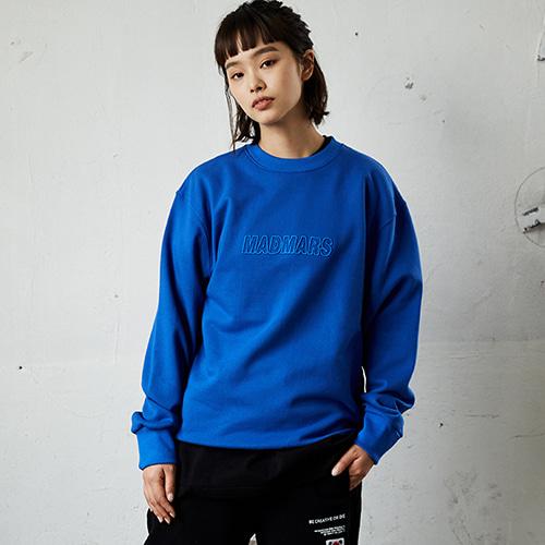 [매드마르스]RELIEF EMBROIDERY SWEATSHIRTS_BLUE