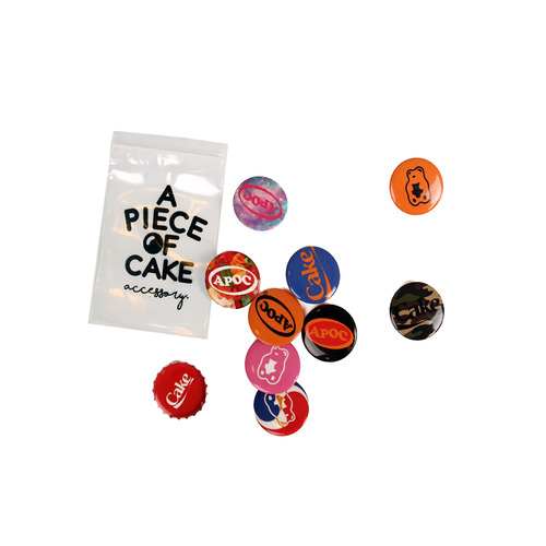 [A PIECE OF CAKE] Pin Button Pack [10 Style in 1 Pack]