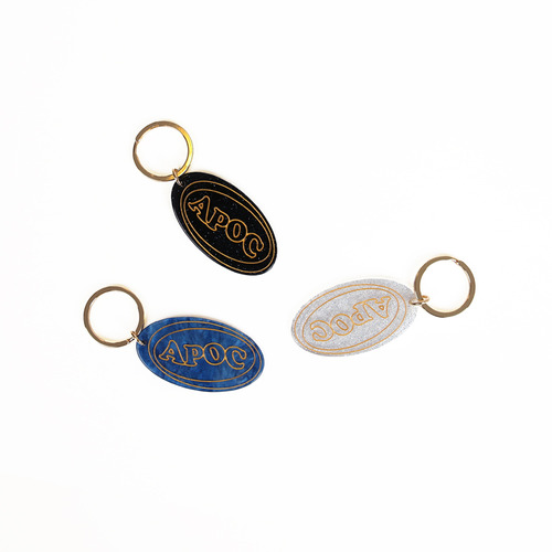 [A PIECE OF CAKE] Oval Logo Key Ring