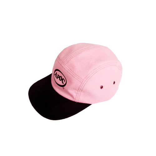 [A PIECE OF CAKE] Oval Logo Camp Cap_Pink