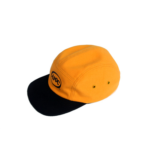 [A PIECE OF CAKE] Oval Logo Camp Cap_Yellow