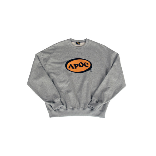 [A PIECE OF CAKE] Oval Logo Crewneck_Gray