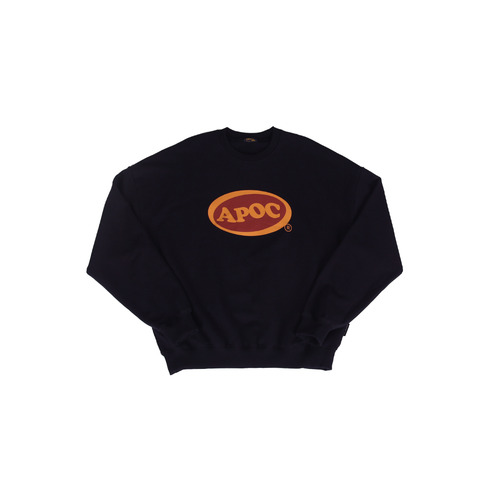 [A PIECE OF CAKE] Oval Logo Crewneck_Navy