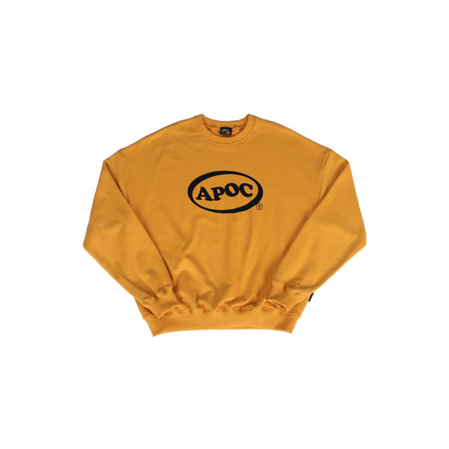 [A PIECE OF CAKE] Oval Logo Crewneck_Yellow