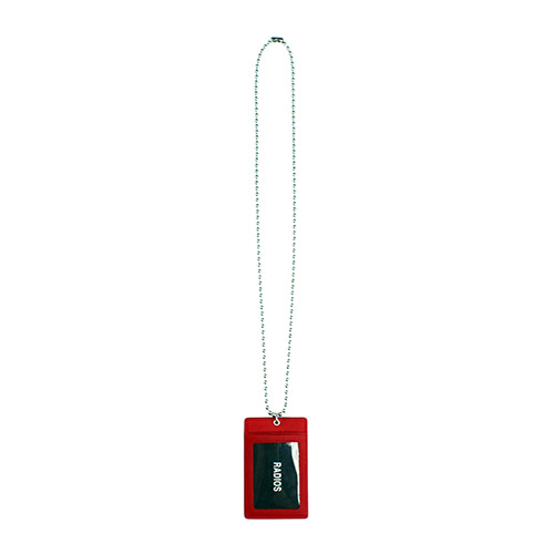 [RADIOS] Card Holder Necklace Track.1 - Red
