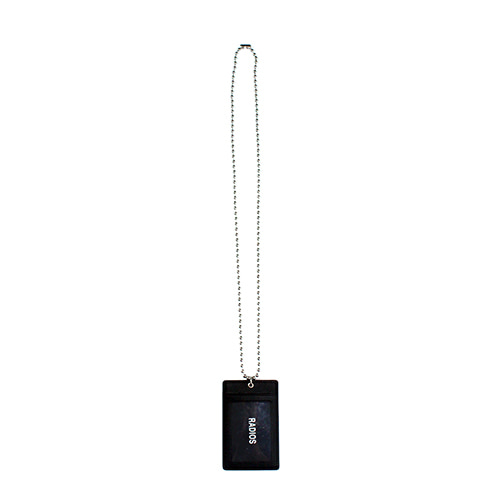 [RADIOS] Card Holder Necklace Track.1 - Black