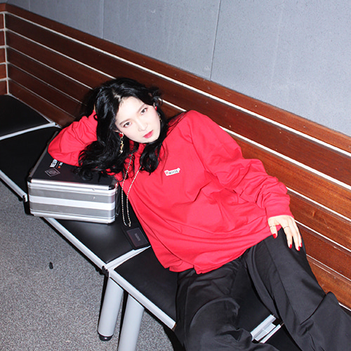[RADIOS] Oversize Long T-SHIRT Track.10 - Red