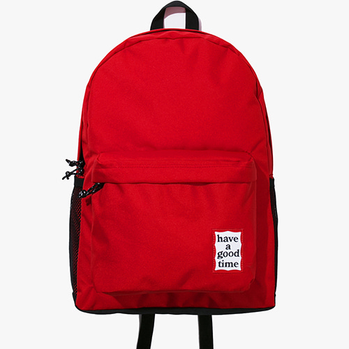 [해브어굿타임] Frame Backpack - Red