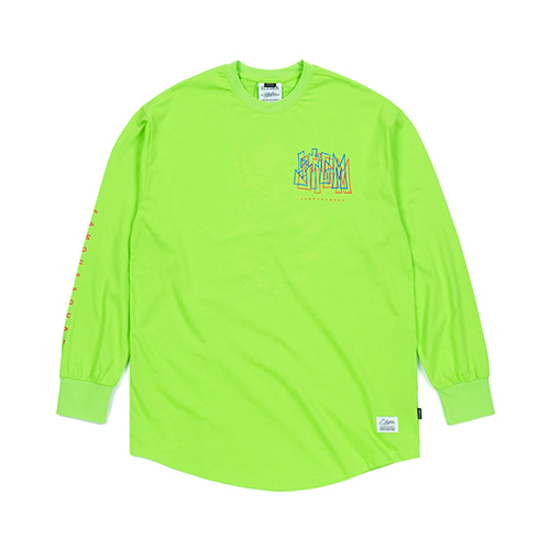 [STIGMA]PRISM LAYERD LONG SLEEVES T-SHIRTS - NEON GREEN