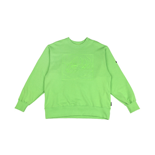 [AJOBYAJO] MANGA SWEATSHIRT - YELLOW GREEN