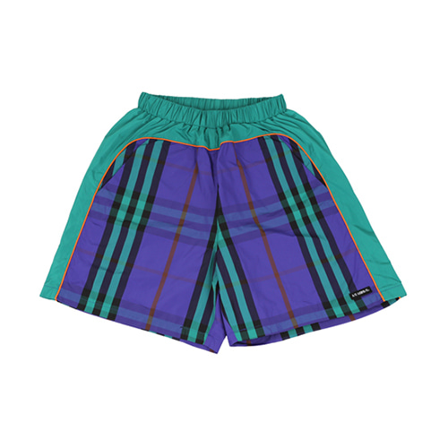 [AJOBYAJO] CHECK SHORT PANTS - PURPLE