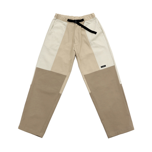 [AJOBYAJO] TWILL TRI COLOR PANTS - BEIGE
