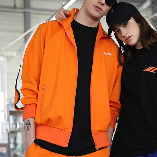 [RENDEZVOUZ] VIVID JERSEY TRACK TOP ORANGE