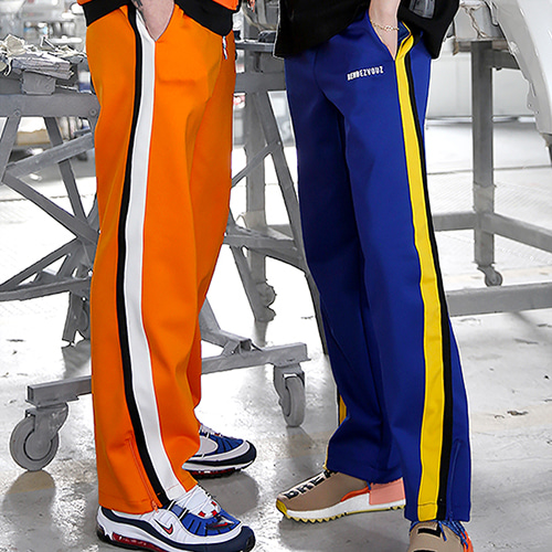 [RENDEZVOUZ] VIVID JERSEY TRACKPANTS ORANGE