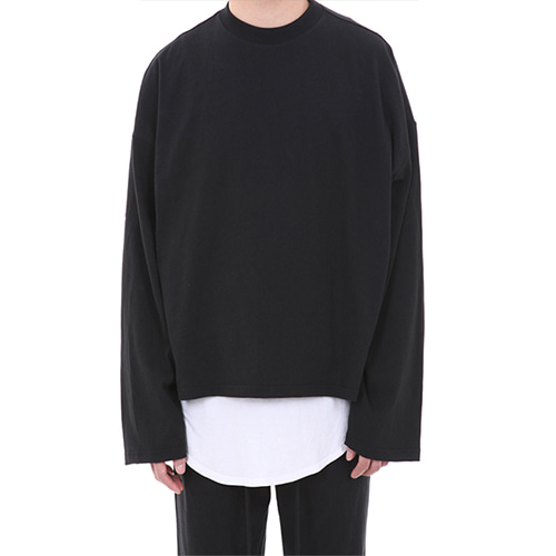 [LANG VERSIO] Basic Line Over Crop Sleeve