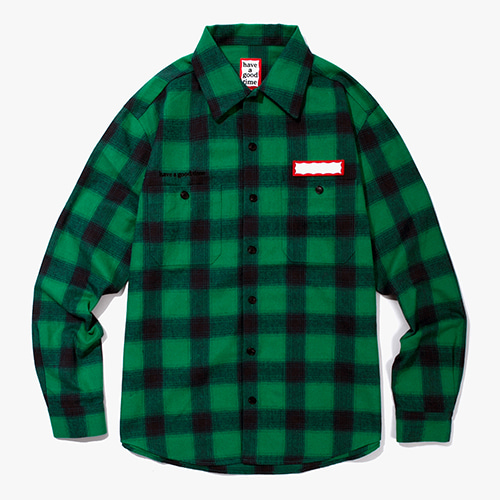 [해브어굿타임] Shadow Flannel Shirts - Green
