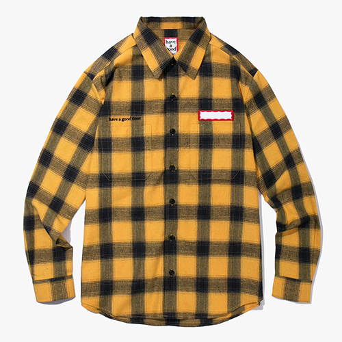[Have a good time] Shadow Flannel Shirts - Yellow