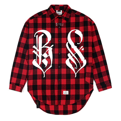 [STIGMA]BS OVERSIZED WORK SHIRTS - RED