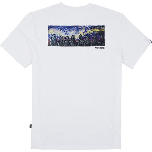 [NOT4NERD]Distorted Sky T-Shirts - White