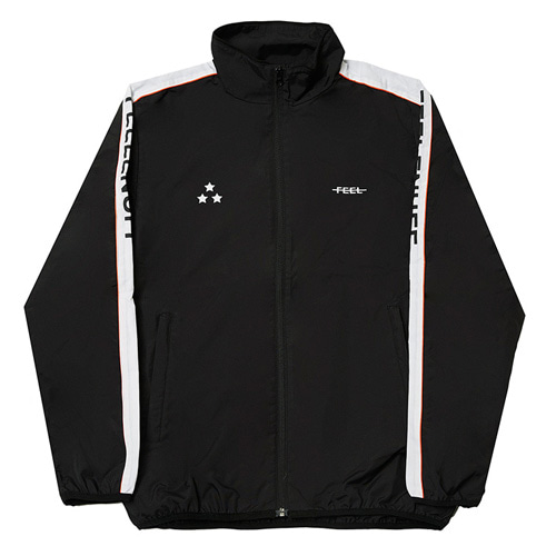 [Feel Enuff] PIPING TRACK JACKET - BLACK