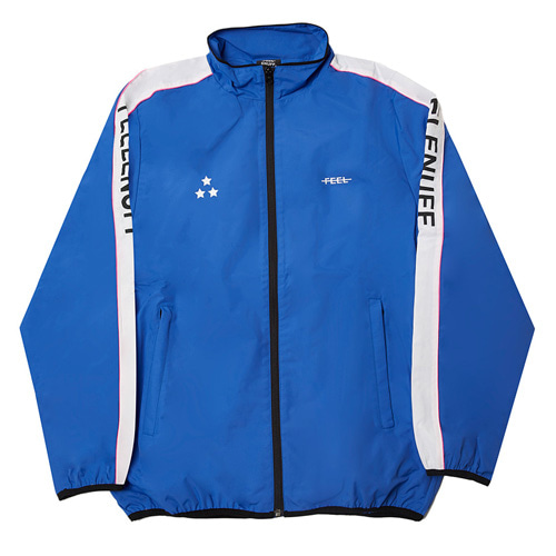 [Feel Enuff] PIPING TRACK JACKET - BLUE