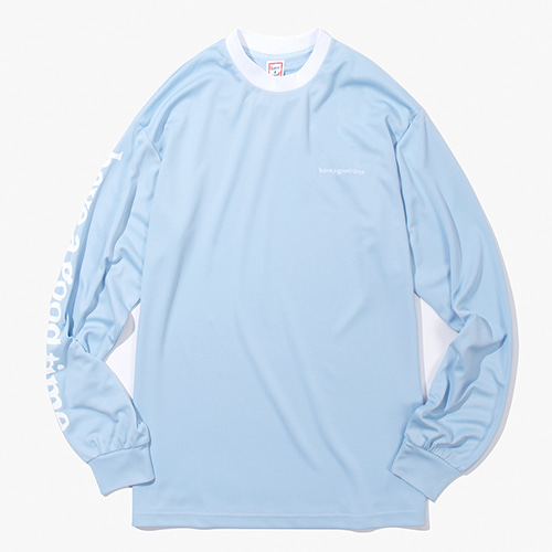[Have a good time] Arm Side Logo Jersey - Light Blue
