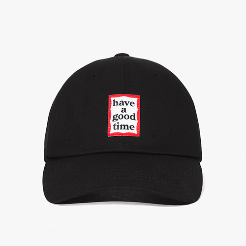 [Have a good time] Frame Ball Cap - Black