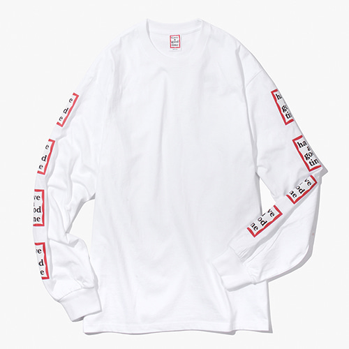 [Have a good time] Arm Frame L/S Tee - White