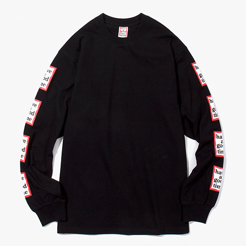 [Have a good time] Arm Frame L/S Tee - Black